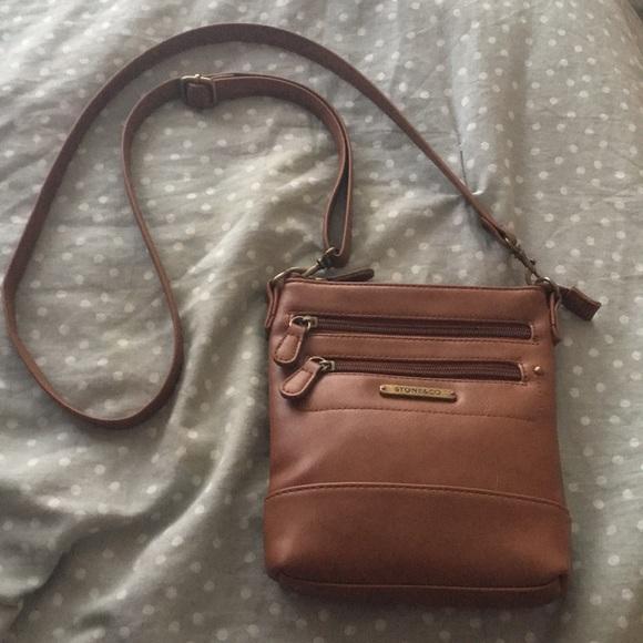 Stone & Co. Handbags - Stone & Co brown crossbody purse